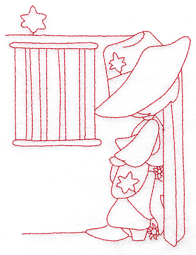 Embroidery Design: Sheriff at jailhouse large 4.50w X 5.79h