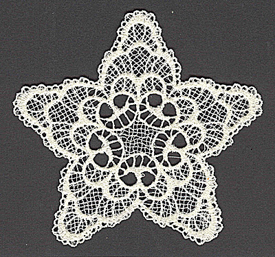 Embroidery Design: Star D large 4.97w X 4.79h