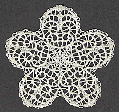 Embroidery Design: Star H large 4.97w X 4.82h