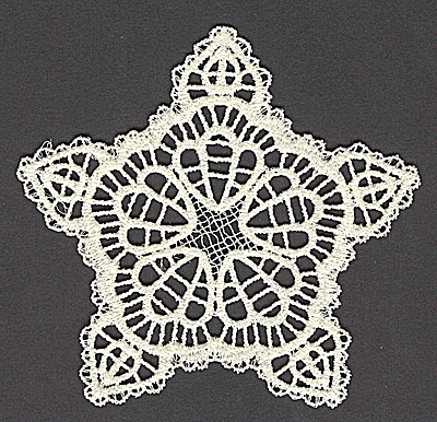 Embroidery Design: Star J large 4.93w X 4.70h