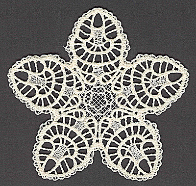 Embroidery Design: Star K large 4.94w X 4.75h