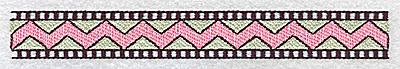 Embroidery Design: Scalloped border design 4.84w X 1.00h