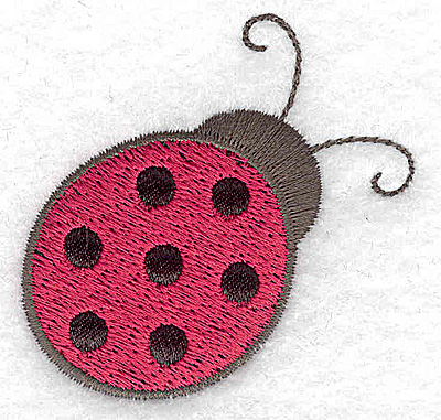Embroidery Design: Ladybug with black applique 2.21w X 2.16h