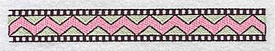 Embroidery Design: Designed border large 6.45w X 0.79h
