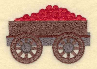 Embroidery Design: Apple Cart Small3.52w X 2.51h