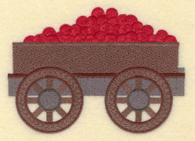 Embroidery Design: Apple Cart Large5.26w X 3.77h