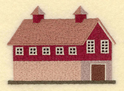 Embroidery Design: Barn Small3.72w X 2.67