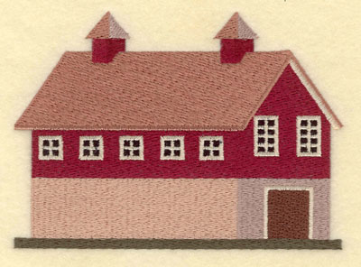 Embroidery Design: Barn Large5.57w X 4.00h