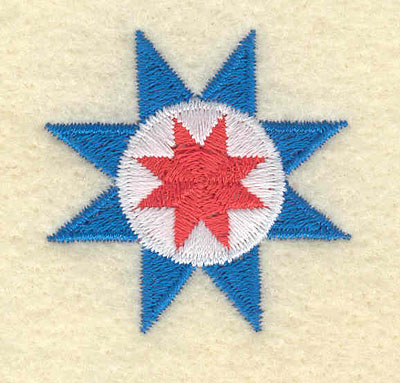 Embroidery Design: Floral Star Motif Small1.47w X 1.46h