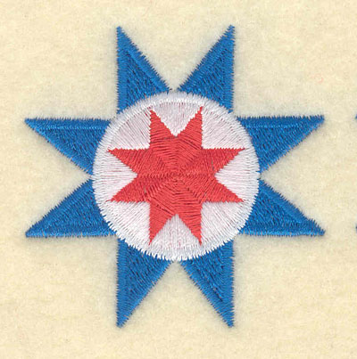 Embroidery Design: Floral Star Motif Large2.19w X 2.18h