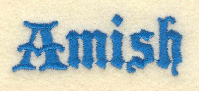 Embroidery Design: Amish2.51w X 0.91h