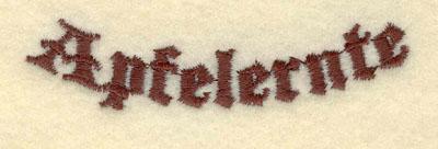 Embroidery Design: Apfelernte 3.01w X 0.73h