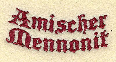 Embroidery Design: Amischer Mennonit3.01w X 1.24h