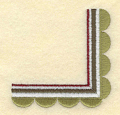 Embroidery Design: Scallop Corner2.68w X 2.67h