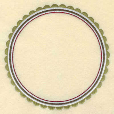 Embroidery Design: Scallop Border Round6.99w X 6.99h