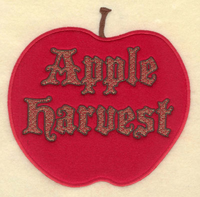 Embroidery Design: Apple Harvest Apple Applique6.83w X 6.82h