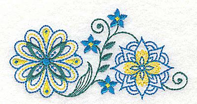 Embroidery Design: Floral design A 3.79w X 2.98h