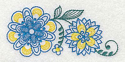 Embroidery Design: Floral design C 3.82w X 1.76h