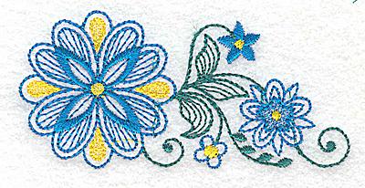 Embroidery Design: Floral design G 3.70w X 1.77h