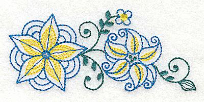 Embroidery Design: Floral design I 3.83w X 1.71h