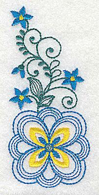 Embroidery Design: Floral design J 1.72w X 3.86h