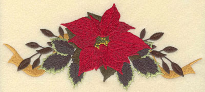 Embroidery Design: Large Poinsetta with Bow8.14w X 3.60h