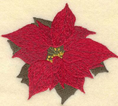 Embroidery Design: Poinsettia 3.90w X 3.38h