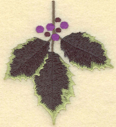 Embroidery Design: Holly3.17w X 3.50h