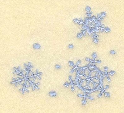 Embroidery Design: Three Snowflakes2.50w X 2.41h