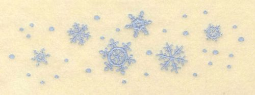 Embroidery Design: Row of Assorted Snowflakes7.00w X 2.15h