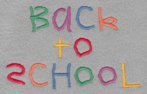 Embroidery Design: Back to School Large3.49h X 5.58w