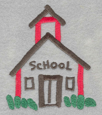 Embroidery Design: School House Small3.76h X 3.19w