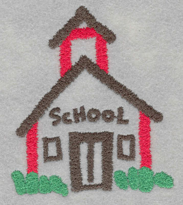Embroidery Design: School House Medium4.46h X 3.80w