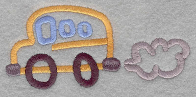 Embroidery Design: School Bus Small1.79h X 3.75w