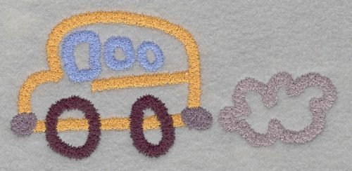 Embroidery Design: School Bus Medium2.90h X 6.06w