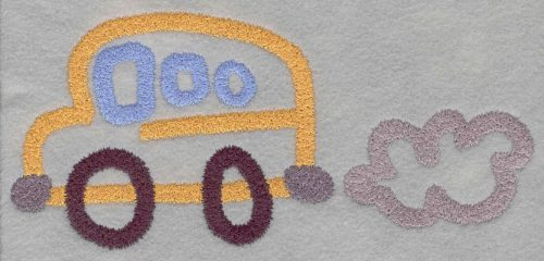 Embroidery Design: School Bus Large3.89h X 8.17w