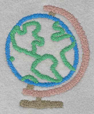 Embroidery Design: Globe Small3.83h X 3.12w