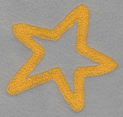 Embroidery Design: Star Large4.68h X 4.73w