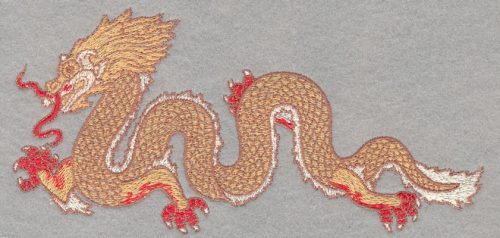 Embroidery Design: Chinese Dragon Small3.33h X 7.01w