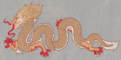 Embroidery Design: Chinese Dragon Large4.99h X 10.5w