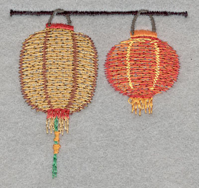 Embroidery Design: Chinese Lantern Double Small2.46h X 2.53w