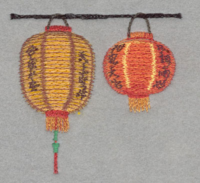 Embroidery Design: Chinese Lantern Double Small Applique3.62h X 3.87w