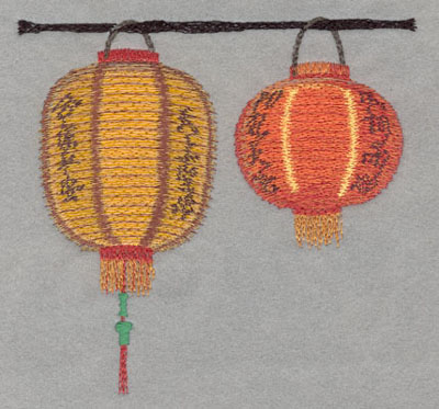 Embroidery Design: Chinese Lantern Double Large Applique5.43h X 5.81w