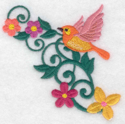 Embroidery Design: Bird flying  3.59w X 3.47h