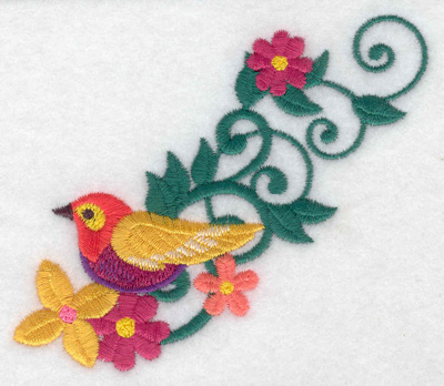 Embroidery Design: Bird perched 3.88w X 3.38h