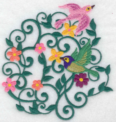 Embroidery Design: Birds in flight large 4.68w X 4.94h
