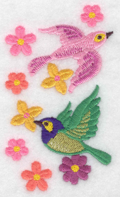 Embroidery Design: Birds in flight verticle 2.20w X 3.87h