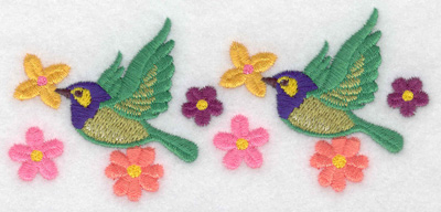 Embroidery Design: Birds green 4.82w X 2.06h