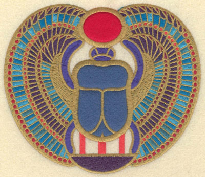 Embroidery Design: Wing scarab three appliques5.80w X 5.01h