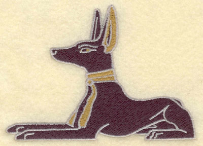 Embroidery Design: Anubis4.56w X 3.28h